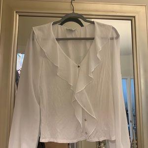 Bebe white blouse